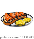 三文魚 鮭魚 三明治 16138903