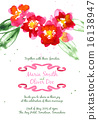 Vector background with red watercolor camellias 16138947