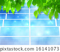 solar panel, young leafe, solar-cell 16141073