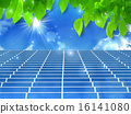 solar panel, young leafe, solar-cell 16141080