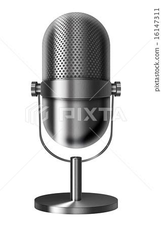 Vintage metal microphone. 16147311