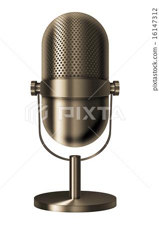Vintage metal microphone. 16147312