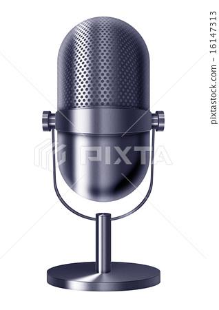 Vintage metal microphone. 16147313
