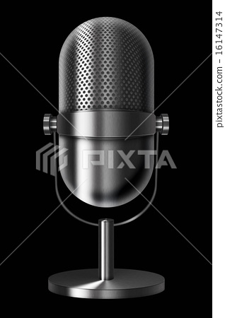 Vintage metal microphone. 16147314