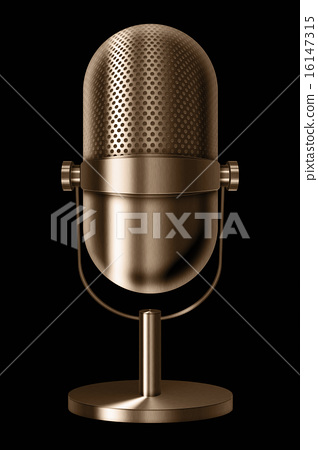 Vintage metal microphone. 16147315
