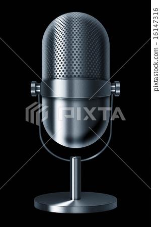 Vintage metal microphone. 16147316