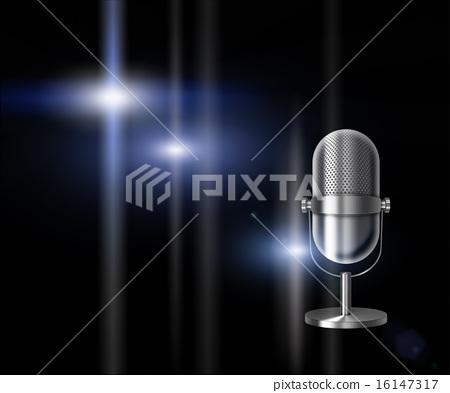 Vintage metal microphone. 16147317