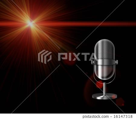 Vintage metal microphone. 16147318