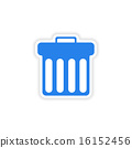 icon sticker realistic design on paper trash 16152456