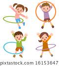 훌라후프를하는 아이들 16153647