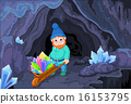 Gnome with Quartz Crystals 16153795