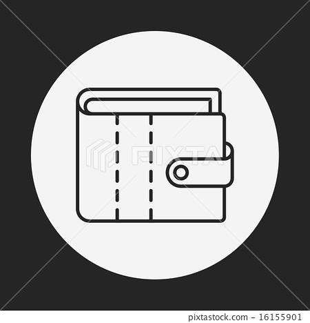 wallet line icon 16155901