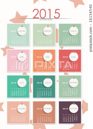 2015 calendar. Vector illustration. 16156540
