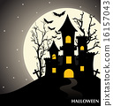 Happy Halloween design background. Vector illustration. 16157043