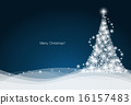 Christmas background with Christmas tree, vector illustration. 16157483