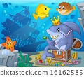 Shark with treasure theme image 3 16162585