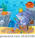 Shark with treasure theme image 4 16162586