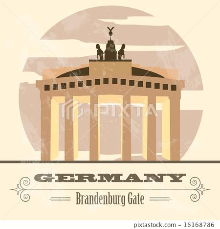 Germany landmarks. Retro styled image 16168786