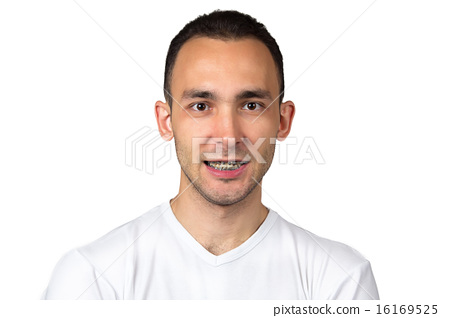 Photo of smiling man with brackets 16169525