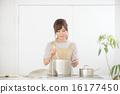 여성, 요리, 주방 16177450
