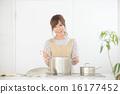 여성, 요리, 부엌 16177452