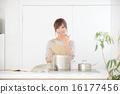 여성, 요리, 주방 16177456