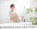 여성, 요리, 부엌 16177457