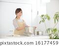 여성, 요리, 부엌 16177459