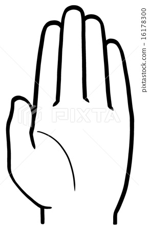 手舉起的手掌 16178300