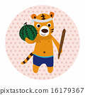 동물, 벡터, 수박 16179367