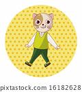 고양이, 동물, 벡터 16182628