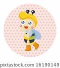 蜜蜂 插圖 可愛 16190149