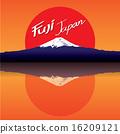 mountain Fuji Japan vector 16209121