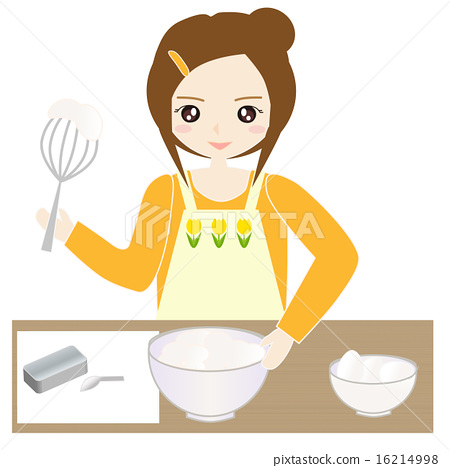 A woman making sweets in the kitchen 16214998