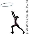 Rhythmic Gymnastics  little girl child   silhouette 16215768