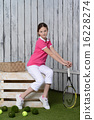 Young female tennis player 16228274