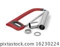 Hacksaw and metal pipes 16230224