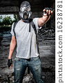 Man in a gas mask 16238781