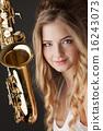 jazz saxophone female 16243073