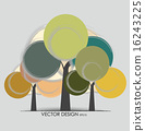 Abstract tree. Vector illustration. 16243225