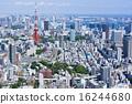 도쿄 타워와 워터 프런트를 원하는 도시 풍경 16244680