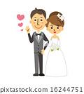 couple, wedding, vector 16244751