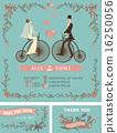 wedding, invitation, retro 16250056