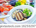 火爐 裝滿的 奶油烤菜 16250297