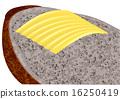 butter on bread 16250419