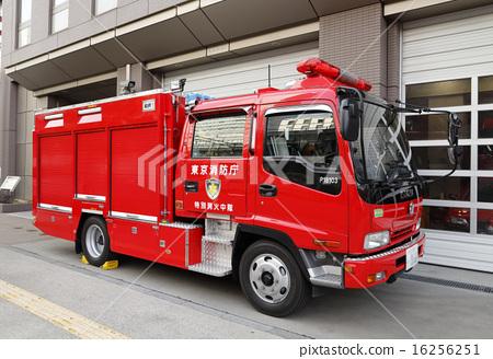 Stock Photo: firetruck, fire-engine, fire-fighting