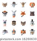 animal, set, hipster 16260630