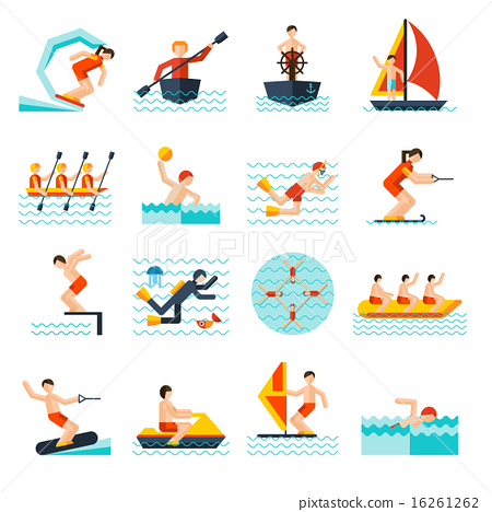 Water Sports Icons Set 16261262