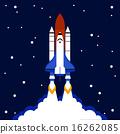 Launch concept space rocket background 16262085