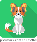 dog Chinese Crested icon flat design  16275969